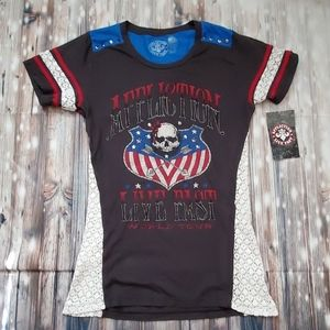 Affliction Live Fast Motorcycle Top Large